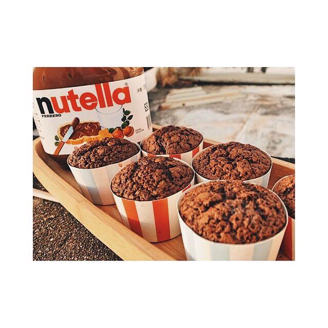 Nutella Brownie Cupcake 巧克力布朗尼杯子蛋糕