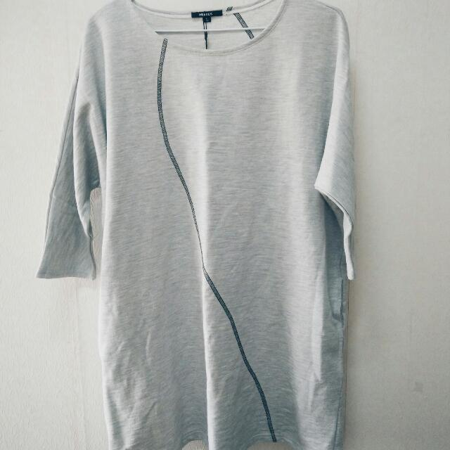 PRAXES淺灰半長衣