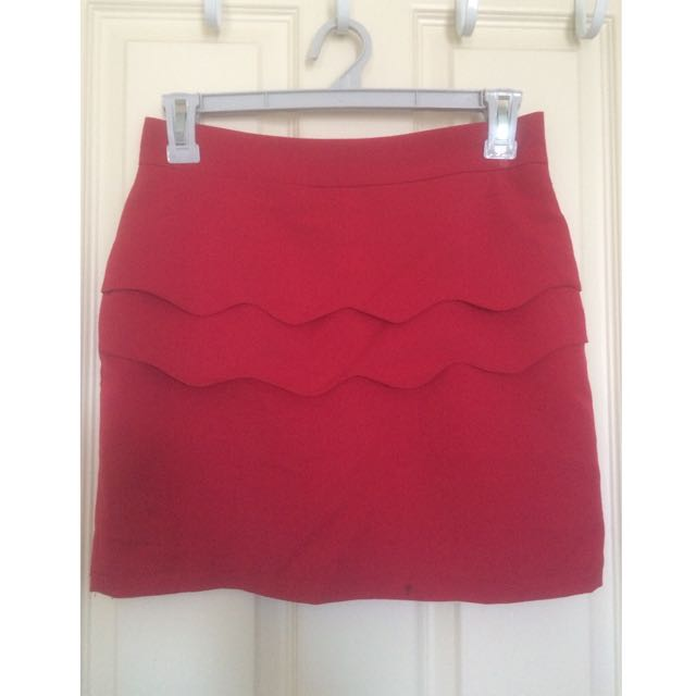 Red Wave Skirt