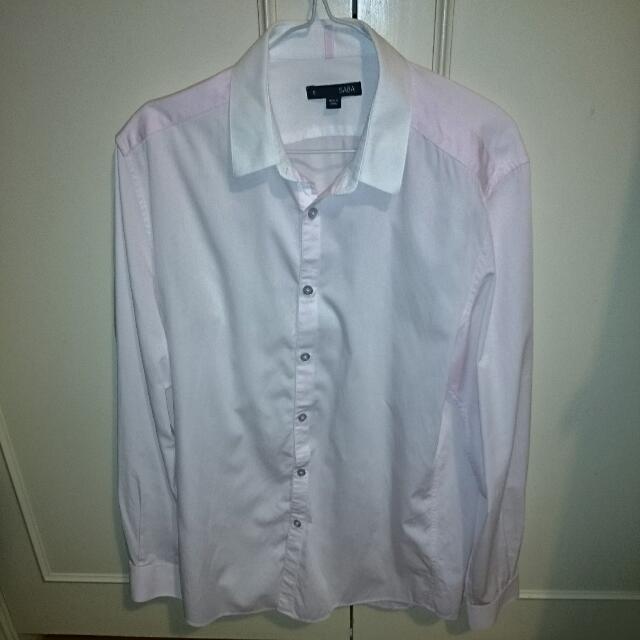 Saba Shirt - Light Pink Size Small