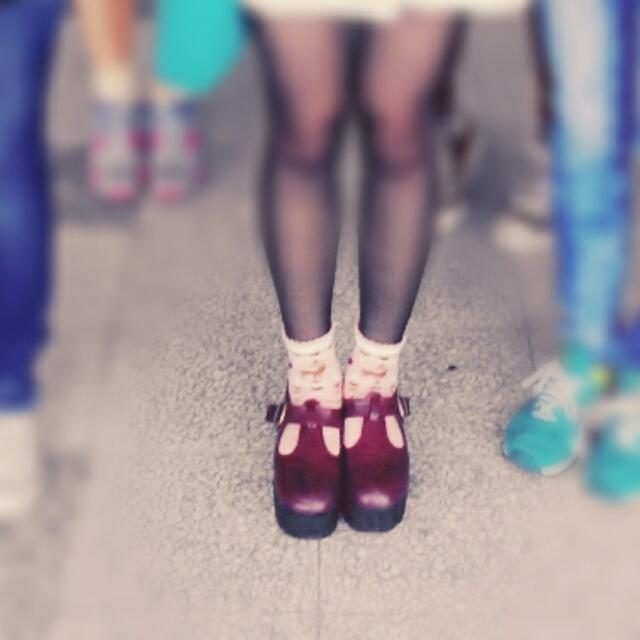 T字厚底鞋