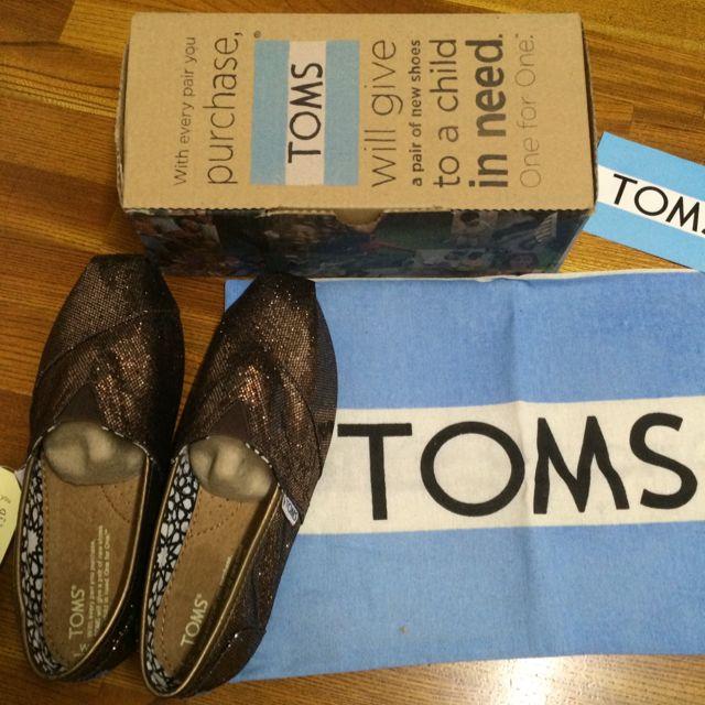 Toms 咖啡色 亮片 W8