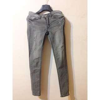 韓國🇰🇷灰色彈性牛仔褲