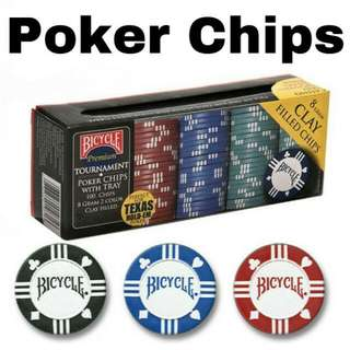 Bicycle Premium Tournament Poker Chips With Tray (Texas Holdem Poker)
