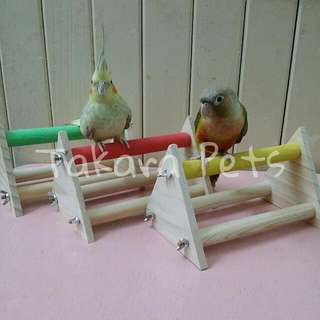Parrot Table Stand With Sandy Wood Perch