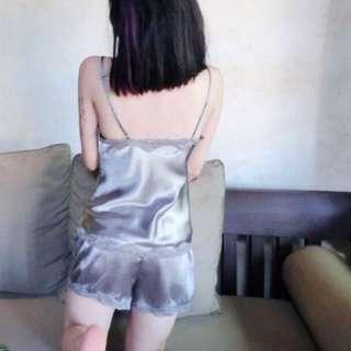 超柔軟性感緞面兩件式睡衣/家居服