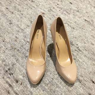 Nine West Nude Patent Heels