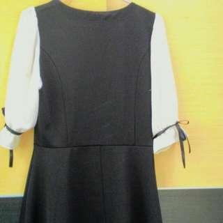 小香風氣質修身顯瘦洋裝M號