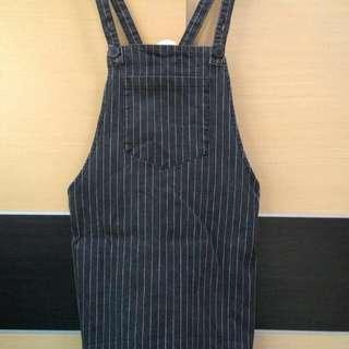 直條紋吊帶裙S號