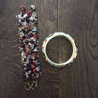 Vivid Stones Hairpiece & Bangle