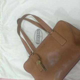Authentic Fossil Leather Handbag (Preloved)