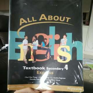 Brand New All About English Textbook