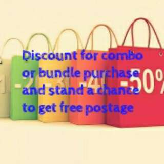 Discount For Combo/bundle Purchase