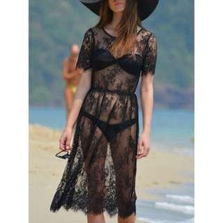 Lace Beach Dress (Brand New )