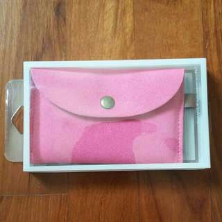 coin /card hot pink pouch