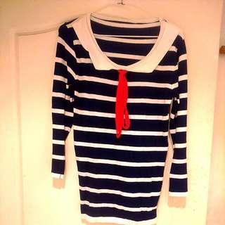 水手風針織上衣