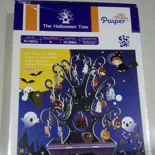 Brand New In Box Halloween Tree Puzzle