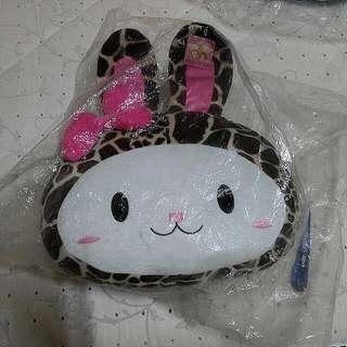 豹紋 兔子 抱枕 枕頭 玩偶 布偶