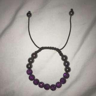 Magnetic Pull string Purple Sparkly Bracelet
