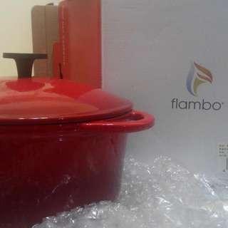 價可議! 歡迎洽詢!! 全新Flambo富蘭鍋鑄鐵湯鍋23CM