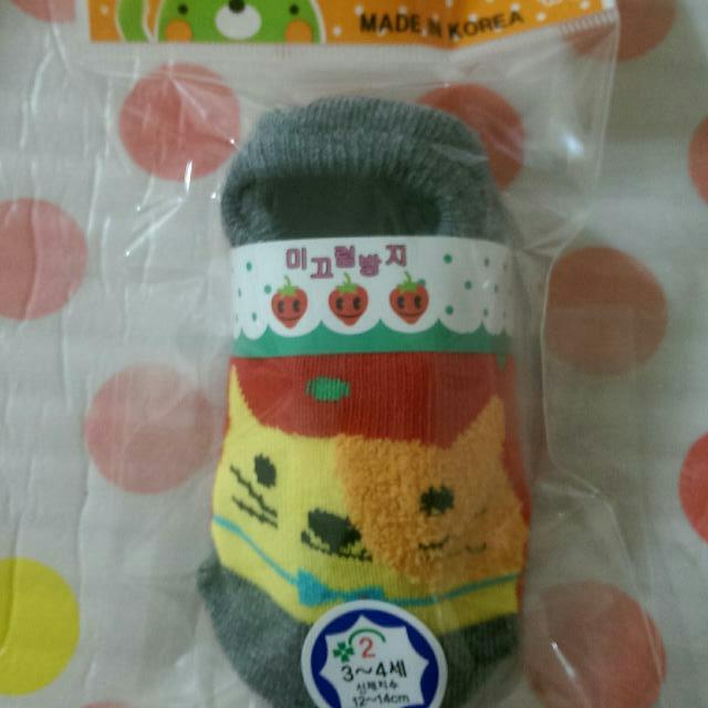 🔅全新-韓國製/寶寶保暖止滑襪(賠本賣