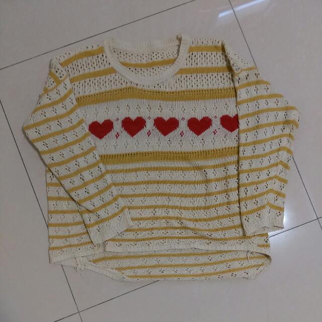 可愛愛心毛衣