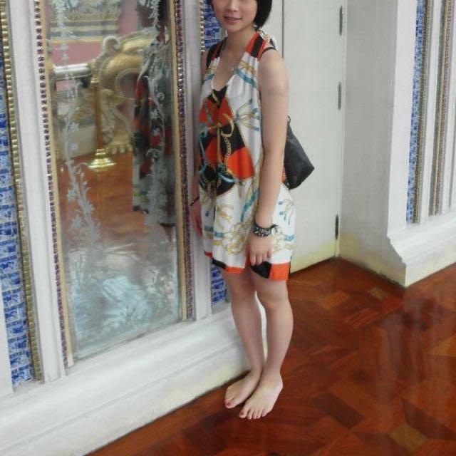 渡假風絲綢裙