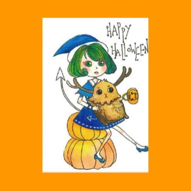 萬聖節 魔女小鹿🌝明信片
