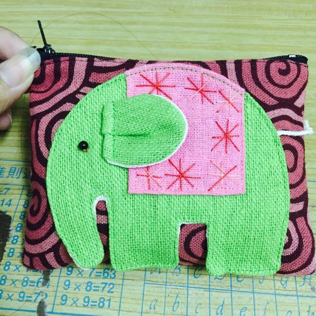 泰國全新帶回來的 大象零錢包