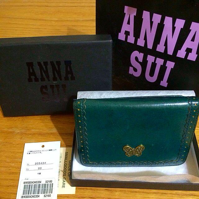 Anna Sui墨綠色卡夾