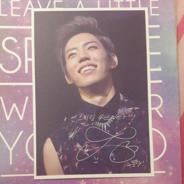 [REDUCED] Infinite That Summer 2012 Concert DVD Photocard: Dongwoo