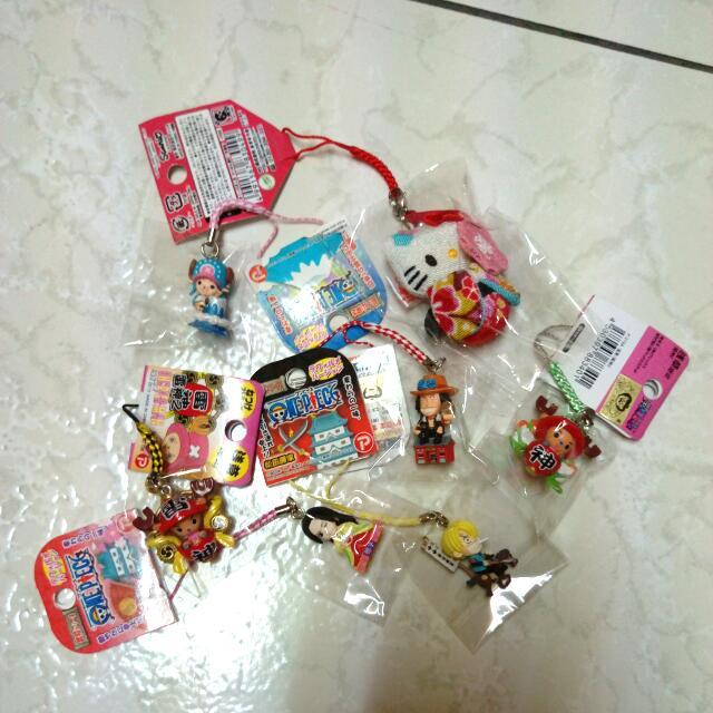 日本吊飾賠本降價蛇姬海賊王艾斯香吉士喬巴HELLO KITYY