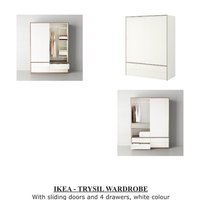 ikea trysil wardrobe furniture on carousell. Black Bedroom Furniture Sets. Home Design Ideas