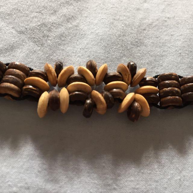 Island Beaded Anklet Bracelet Wooden