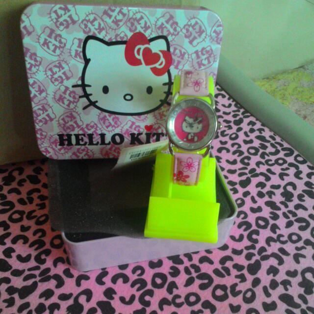 『超值全新』 ♡ KITTY 貓手錶 ~可愛爆錶~
