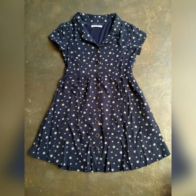 usegood polka vintage dress