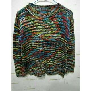 彩色針織毛衣