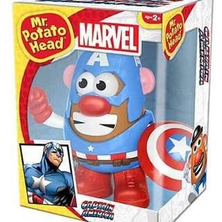 蛋頭先生 Mr. Potato Head Marvel英雄 美國隊長