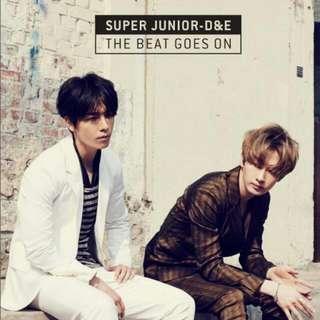 super junior D&E全新未拆封韓版專輯(贈海報)