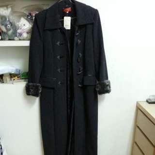 全新深鐵灰黑 長版大衣
