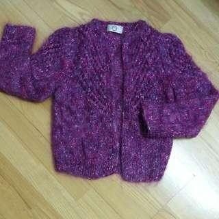 ITALY  Gray紫彩色毛海毛衣