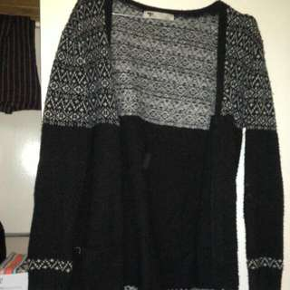 Black And White Knit