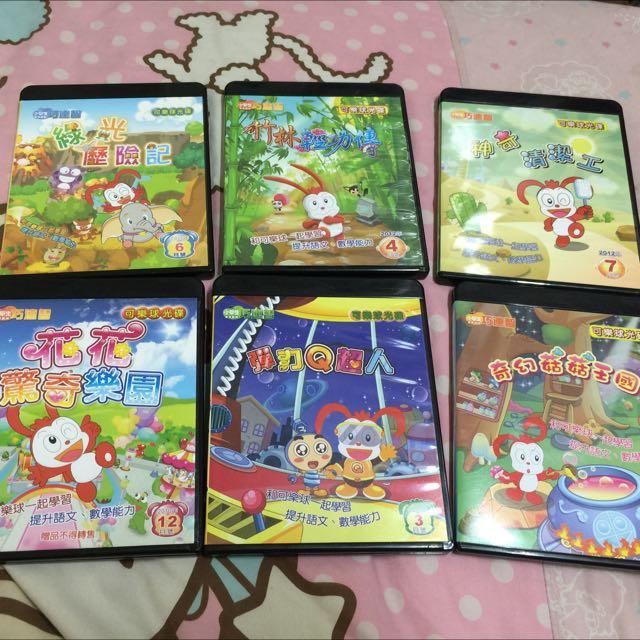 巧虎巧連智可樂球低年級遊戲光碟6片