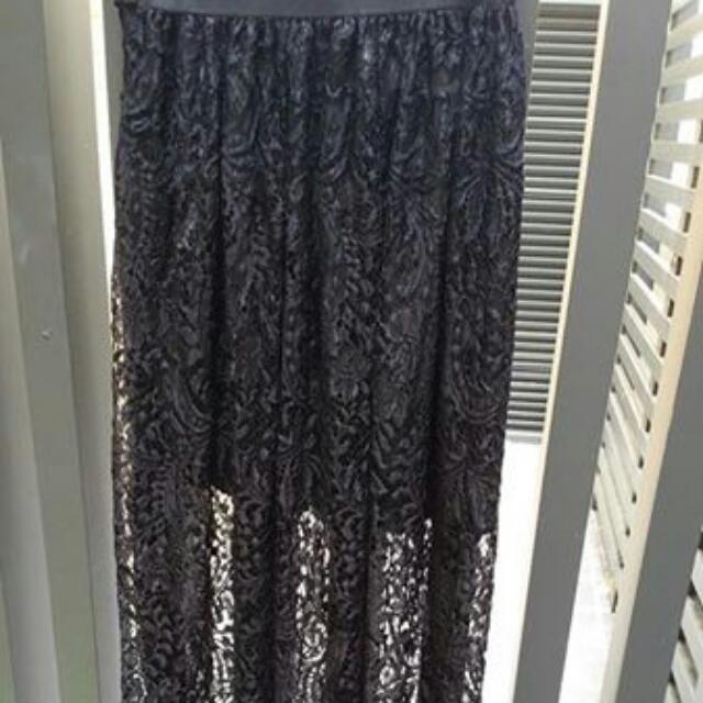 黑色蕾絲裙