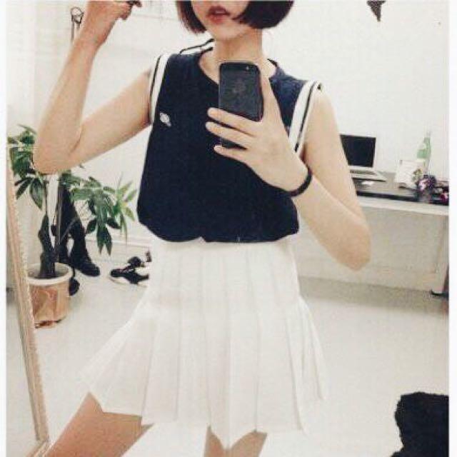 (保留)✨全新白色百褶裙