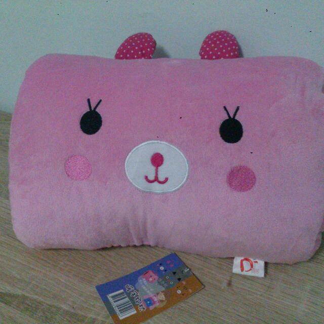 粉色小兔暖手枕