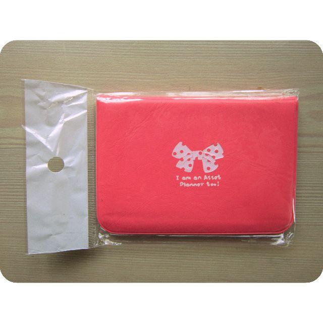 粉紅緞帶款名片夾