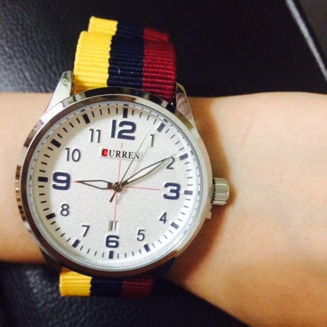 限時免運+特價!海軍帆布質感中性錶