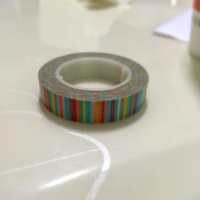 彩色線條紙膠帶 分裝