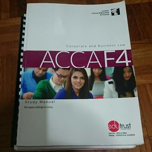 ACCA F4 (SGP) Study Manual + Lecture Notes + Revision Kit +
